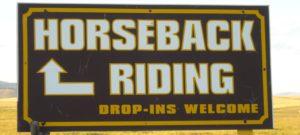 (AmE) horseback riding