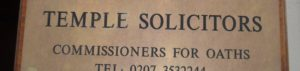 (BrE) solicitor & commissioner for oaths