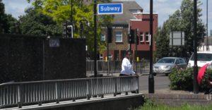 (BrE) subway