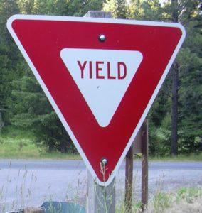 (AmE) Yield