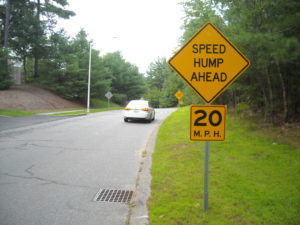 (AmE) speed hump