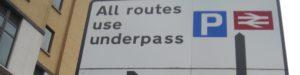 (BrE) underpass